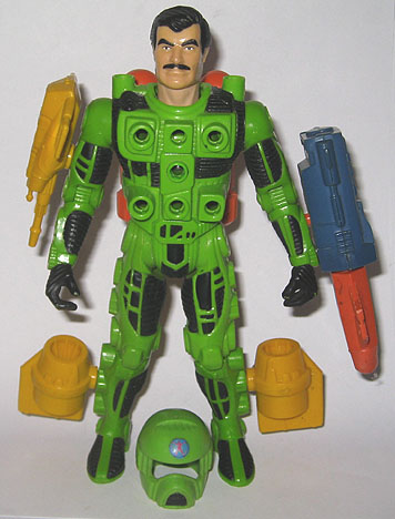 A Centurions action figure with attachments