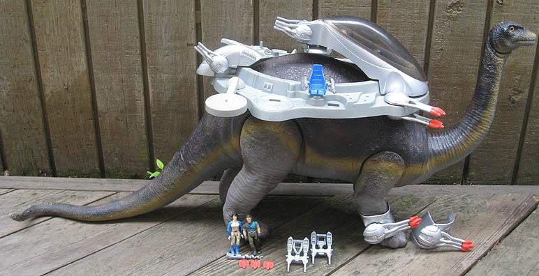 DINO-RIDERS (Tyco) 1988 BrontosaurusLoose1a