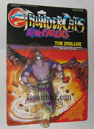 Thundercats Driller on Sta  Thundercats  Action Figures  Driller