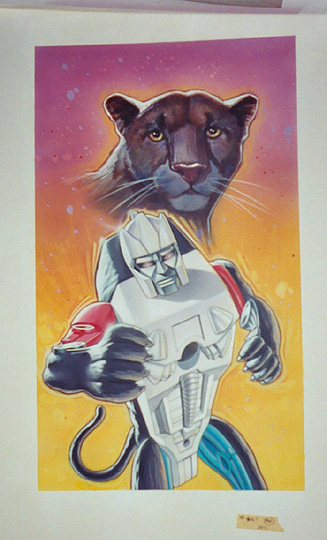 Sta  Transformers  Artwork  Beast Wars Mcd Panther Art