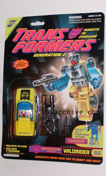 hasbro_STA: Transformers: Prototypes: Genertaion 2 Stunticon Wildrider MOSC